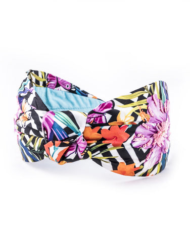 Tropical Geo Knot Headband