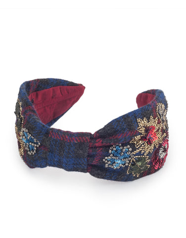 Tweed Embellished Headband