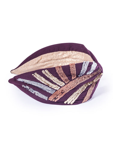Sequined Striped Headband