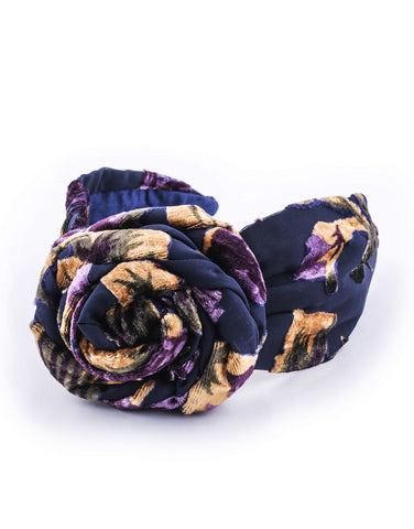 Velvet Top-Bun Headband