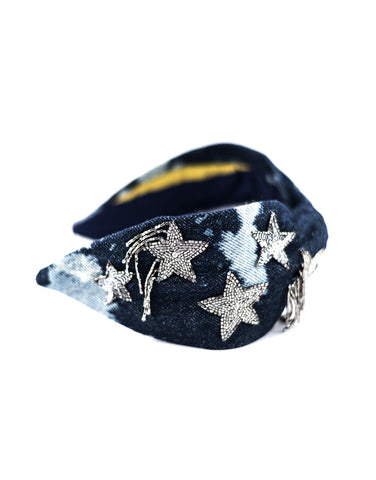 Denim Stars Headband