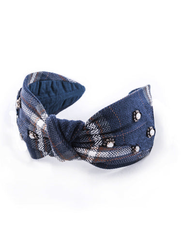 Crystal Plaid Headband