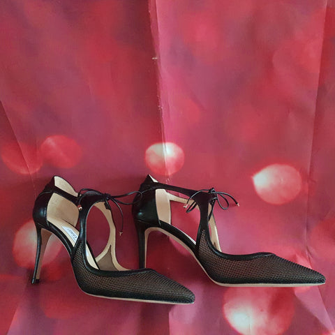 JIMMY CHOO high heel black shoes size 5.5 / 38.5