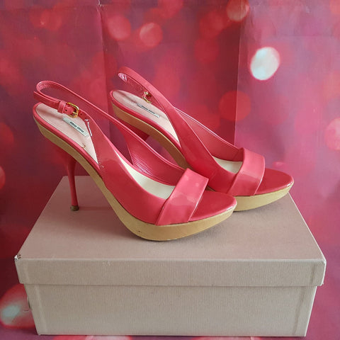 MIU MIU High Heels Pink Shoes size 5 / 38