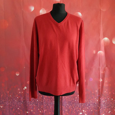 BLUE HARBOUR M&S Men's Red Jumper Size L