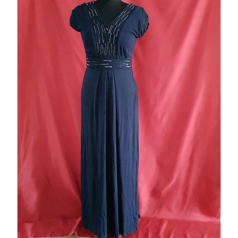 Monsoon Jersey Blue Long Dress Size 8 / 36