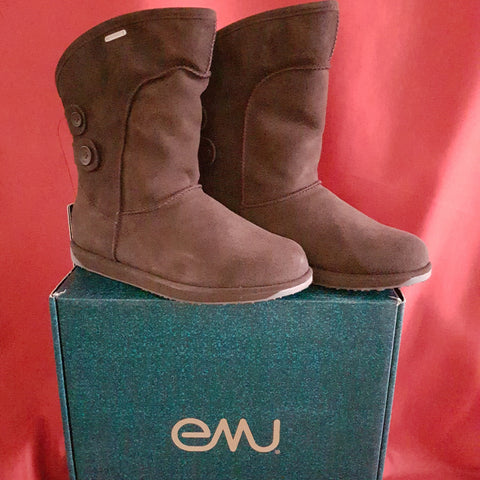 EMU Women's Brown Leather Waterproof Boots Size 7 / 40