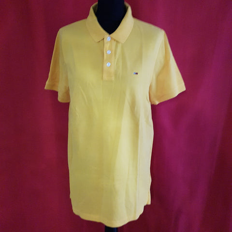 TOMMY JEANS Men's Yellow T-Shirt Size XL