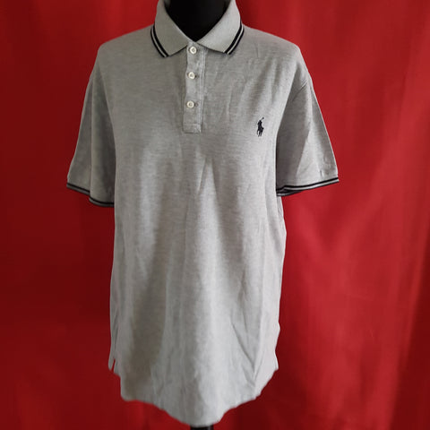 POLO RALPH LAUREN Men's Grey Slim Fit T-Shirt Size L