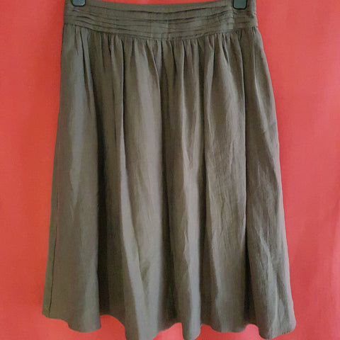 M&S Women's Olive Skirt Size 12 / 40