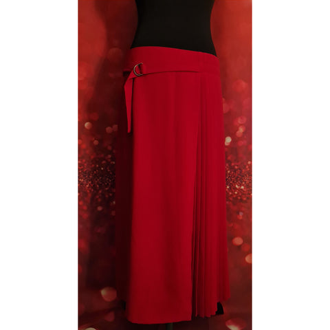 LINEA red skirt size 14