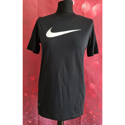 Nike dri-fit boys black t-shirt size 13-15 years