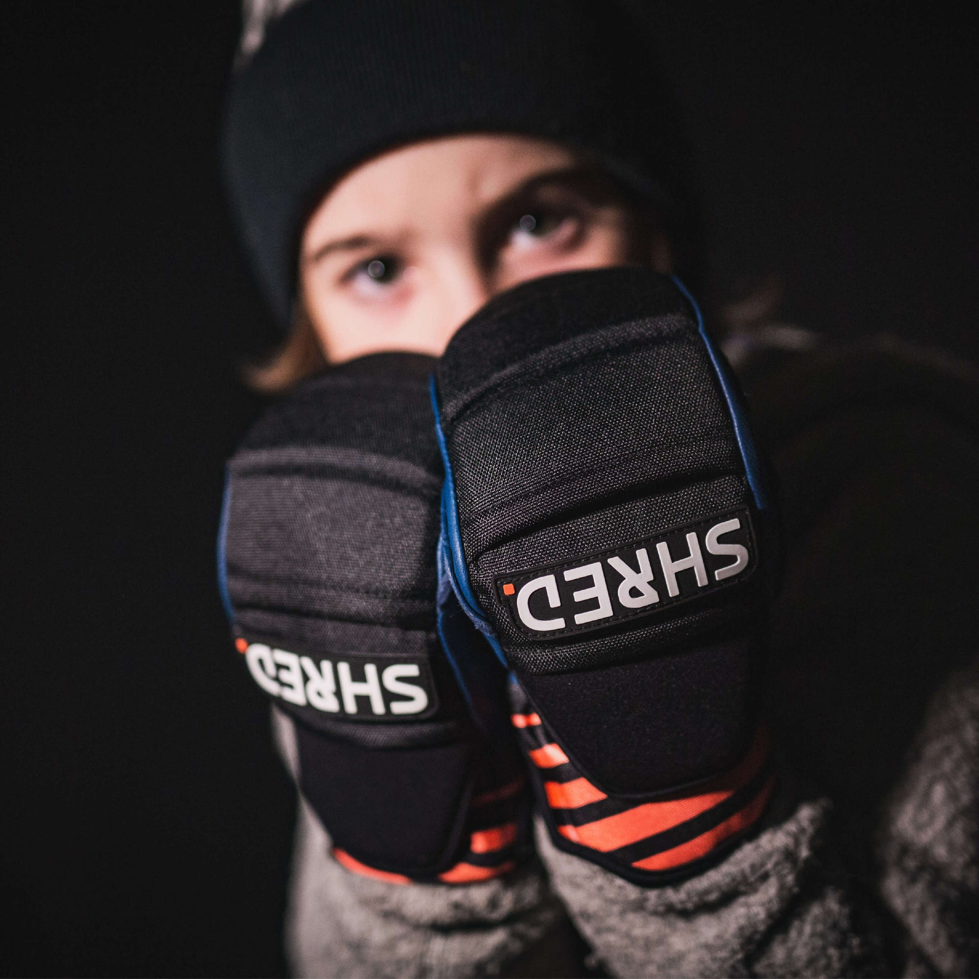 Ski Race Protective Mittens Mini Navy/Rust - Protective Gloves