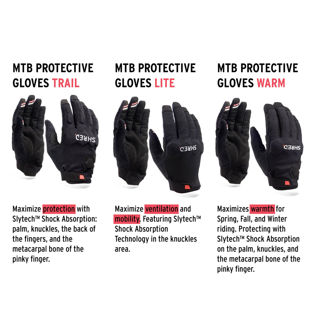 Mtb Protective Gloves Warm Black - Protective Gloves|BPBGWL11L,BPBGWL11M,BPBGWL11S,BPBGWL11XL,