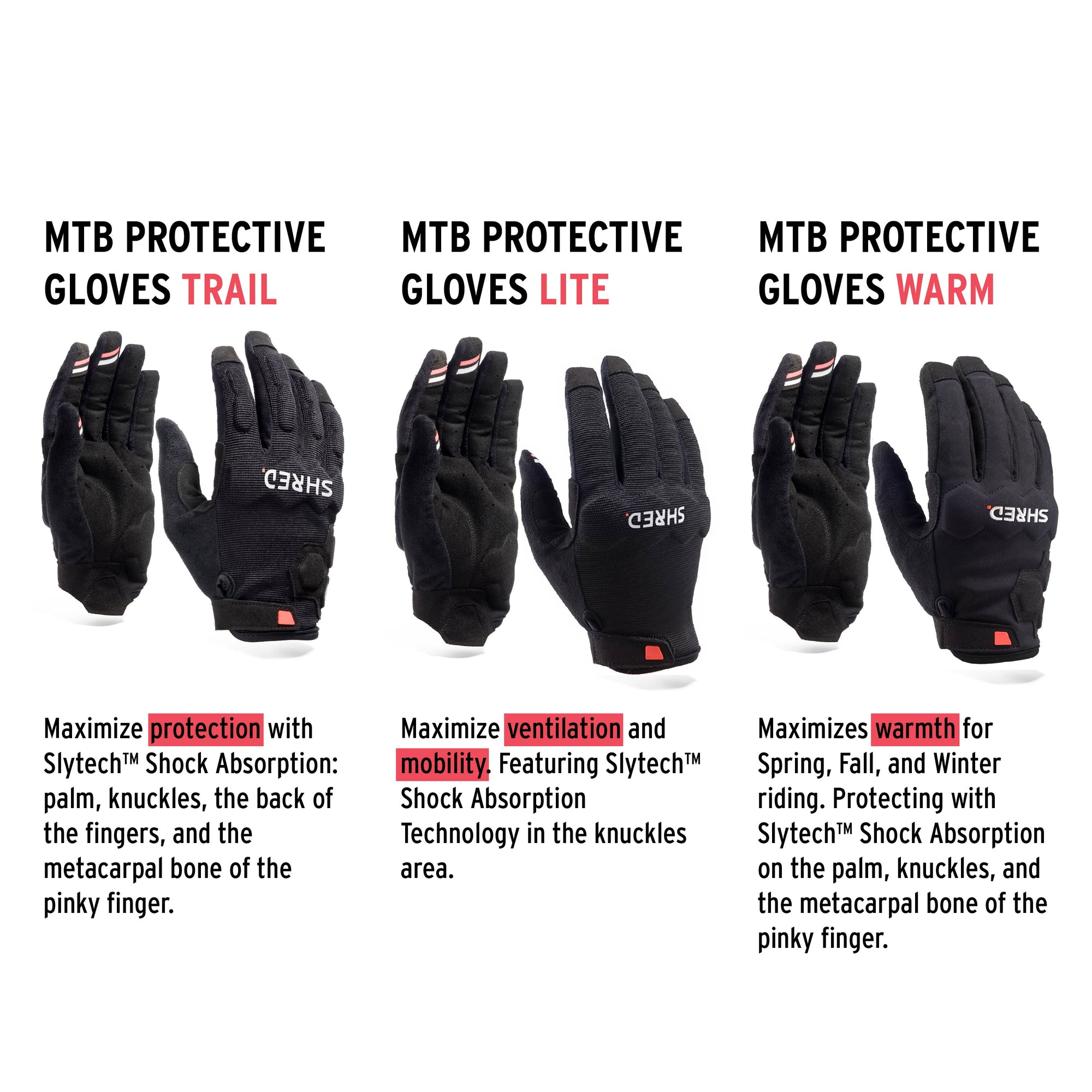 Mtb Protective Gloves Warm Black - Protective Gloves