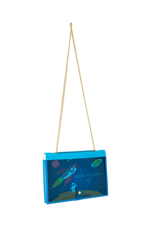 FUN NOTE-BAG NEON BLUE KIDS