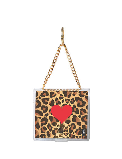 MINI KEYCHAIN NOTEBOOK LEOPARD