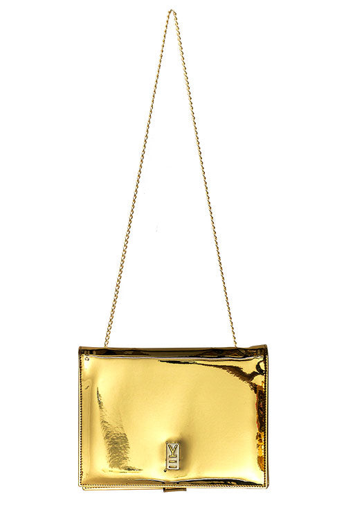 FANCY NOTE-BAG GOLD MIRROR