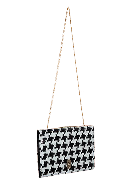FANCY NOTE-BAG HOUNDSTOOTH
