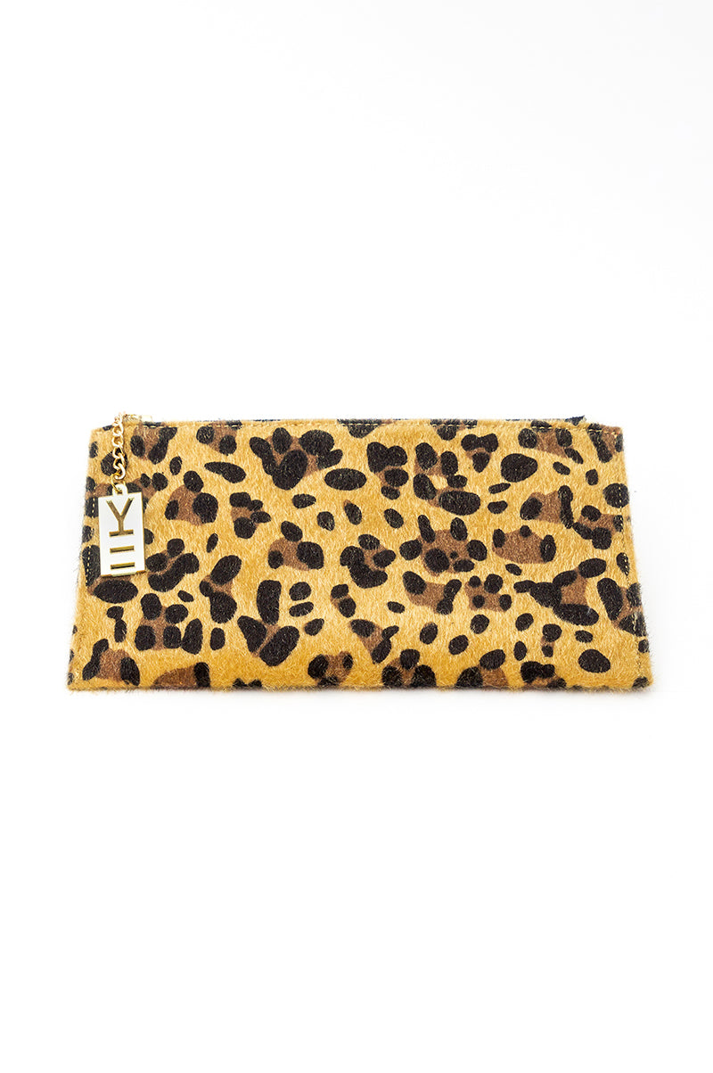 WHY NOTE!? LEOPARD PRINT X-LARGE WALLET