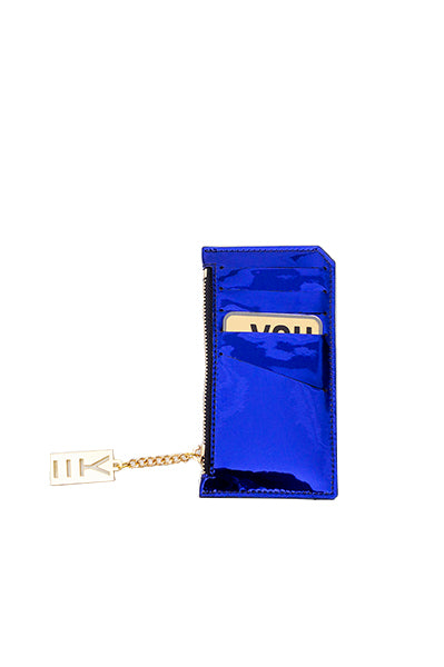 WHY NOTE!? BLUE MIRROR MINI WALLET