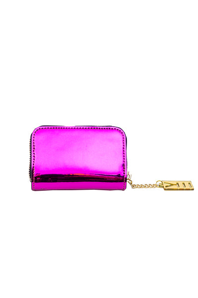 WHY NOTE!? FUCHSIA MIRROR EFFECT COIN HOLDER