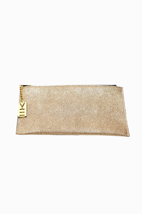 WHY NOTE!? GOLD GLITTER X-LARGE WALLET