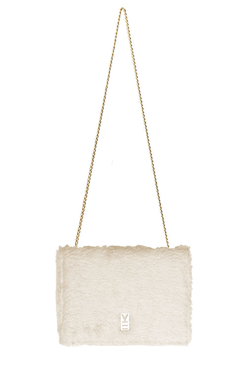 FANCY NOTE-BAG FAUX-SHEARLING