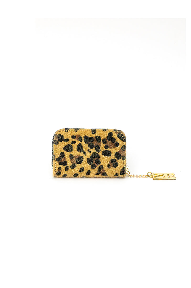 WHY NOTE!? LEOPARD MIRROR EFFECT COIN HOLDER