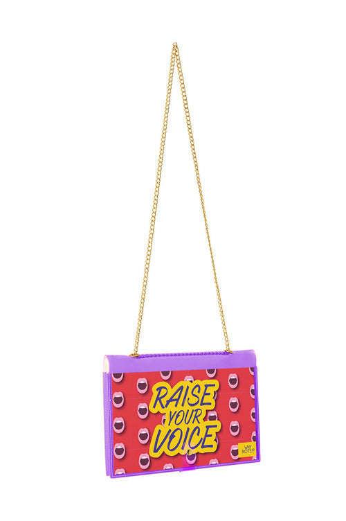 FUN NOTE-BAG NEON PURPLE WOMEN POWER
