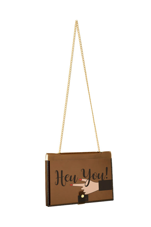 FUN NOTE-BAG NEON BROWN WENDY