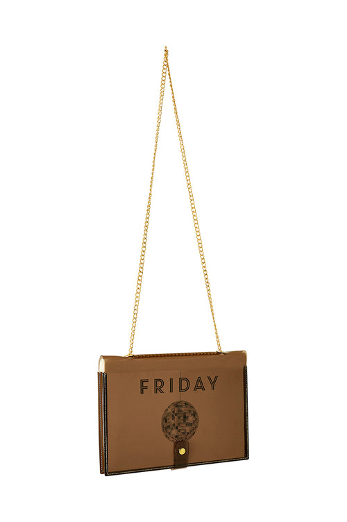 FUN NOTE-BAG NEON BROWN DAYS