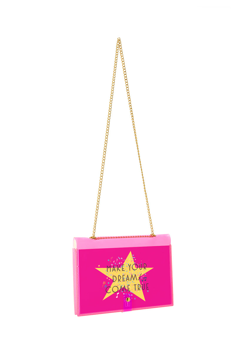 FUN NOTE-BAG NEON PINK KIDS