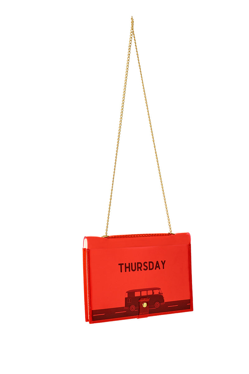 FUN NOTE-BAG NEON RED DAYS
