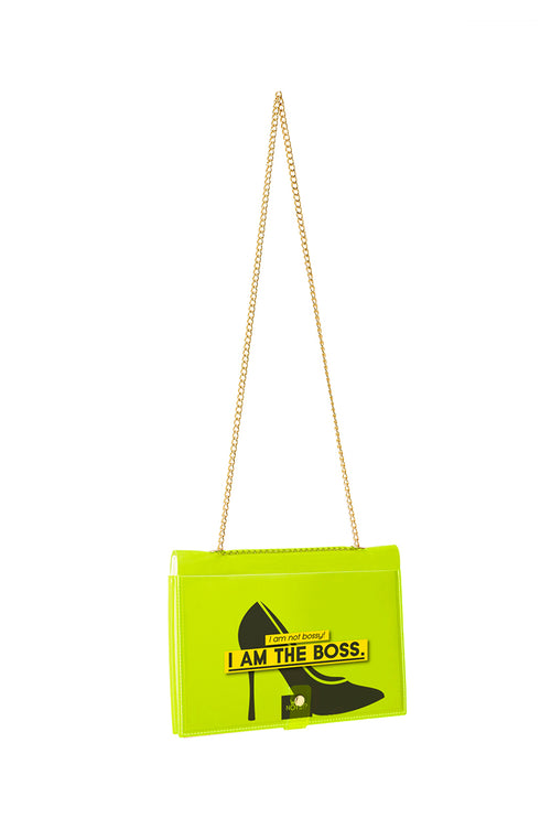 FUN NOTE-BAG NEON GREEN OFFICE