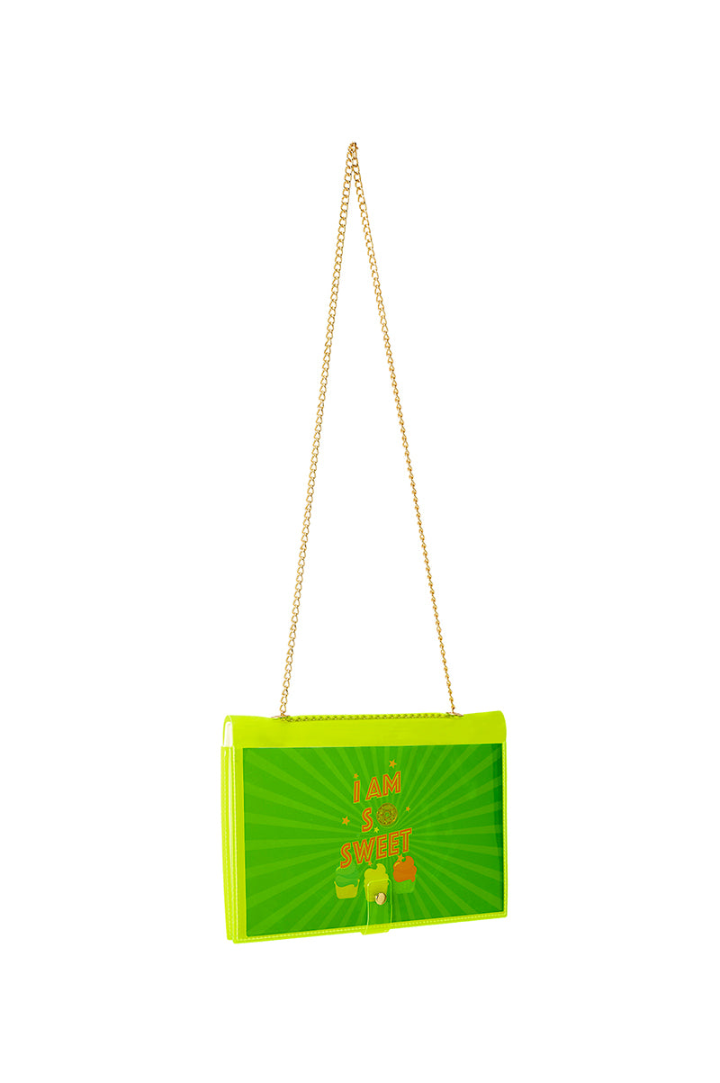 FUN NOTE-BAG NEON GREEN KIDS