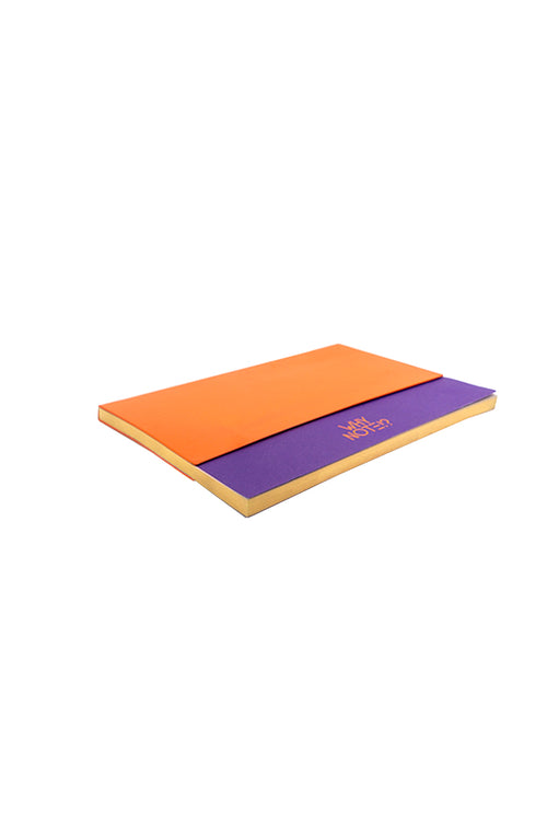 WHY NOTE!? NOTEBOOK BAG ORANGE PURPLE