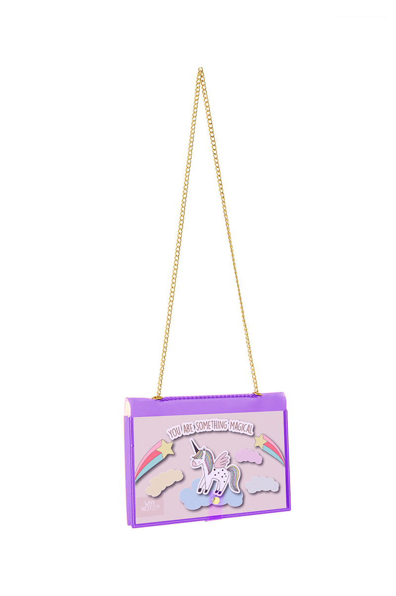 FUN NOTE-BAG NEON PURPLE UNICORN