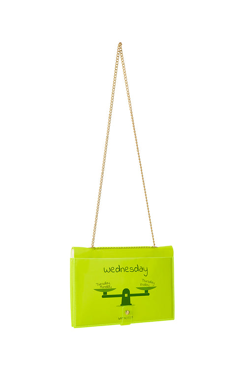FUN NOTE-BAG NEON GREEN DAYS