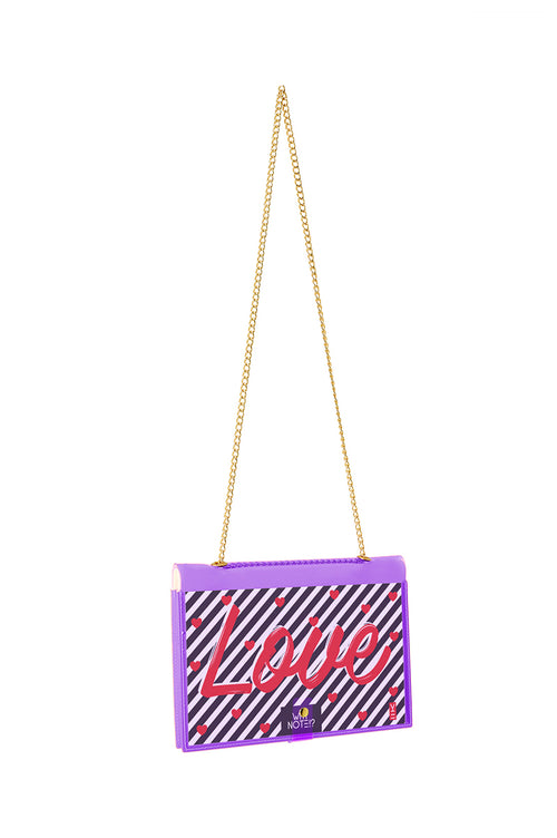FUN NOTE-BAG NEON PURPLE WISH
