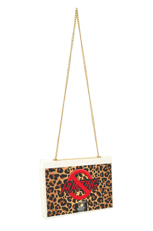 FUN NOTE-BAG NEON TRANSPARENT ANIMAL PRINT
