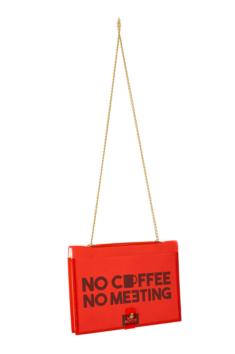 FUN NOTE-BAG NEON RED OFFICE