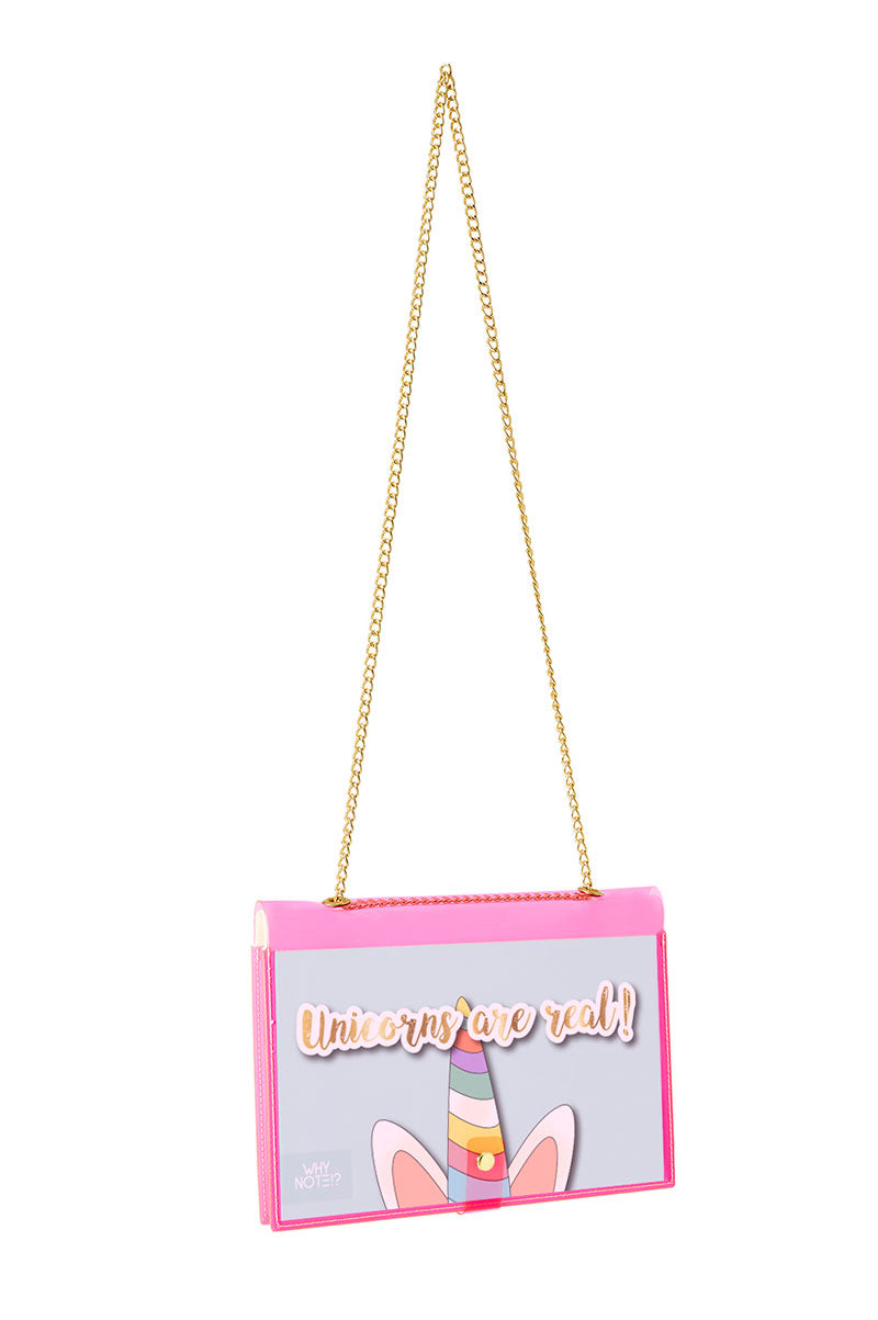 FUN NOTE-BAG NEON PINK UNICORN