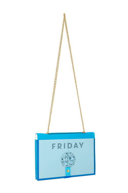 FUN NOTE-BAG NEON BLUE DAYS