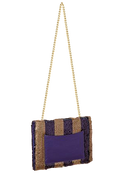 FANCY NOTE-BAG GOLD PURPLE