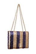 FASHION NOTE-BAG GOLD PURPLE