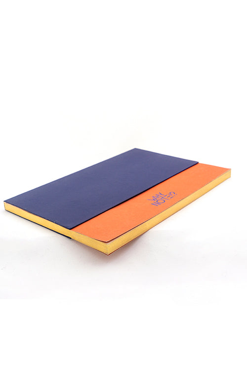 WHY NOTE!? NOTEBOOK NAVY ORANGE