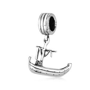 Duc In Altum Boat Silver Charm