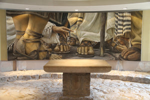 """ENCOUNTER"" - Magdala Chapel Mural Canvas Replica (5 SIZES)"