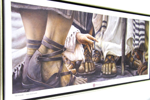 """ENCOUNTER"" - Magdala Chapel Mural Canvas Replica (45 x 20 inch, SHIPPING INCLUDED)"